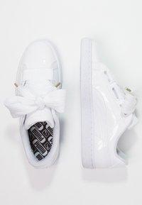 Puma - BASKET HEART PATENT - Sneakers - white - 2