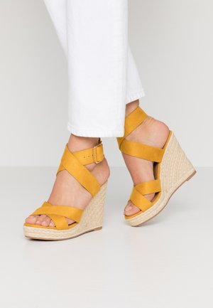 ONLAMELIA WRAP  - High heeled sandals - yellow