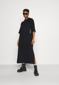 G-Star - LONG HOODED DRESS - Maxi dress - dark black - 1