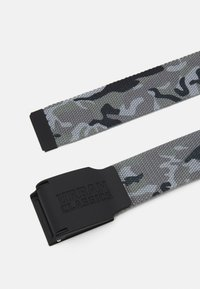 Urban Classics - WOVEN BELT RUBBERED TOUCH UNISEX - Skärp - grey - 1