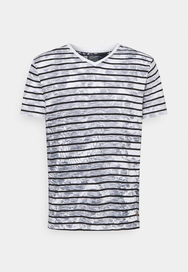 Petrol Industries T-shirt z nadrukiem - bright white/blue/biały Odzież Męska SANO