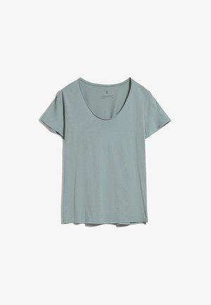 HAADIA - Basic T-shirt - eucalyptus green