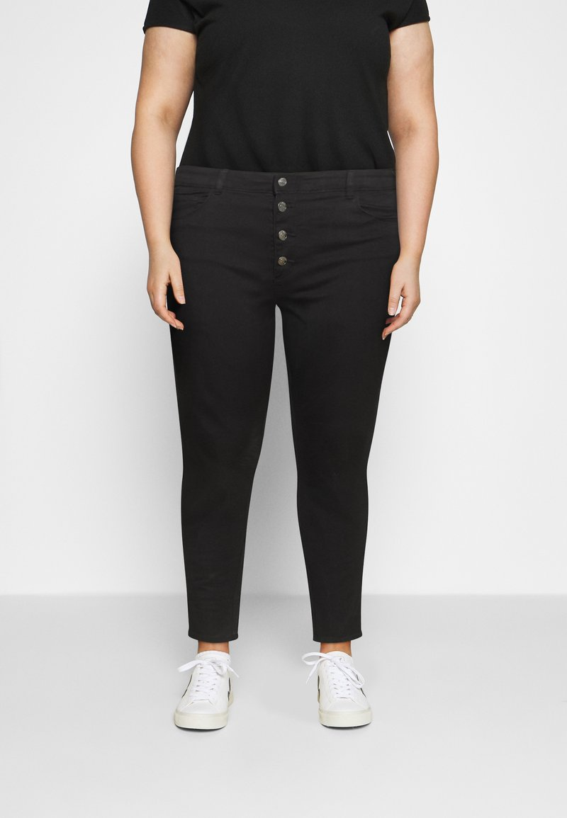 ONLY Carmakoma - CARAUGUSTA BUTTON - Jeans Skinny Fit - black
