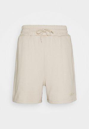SIGNATURE LOGO SHORT - Shorts - beige