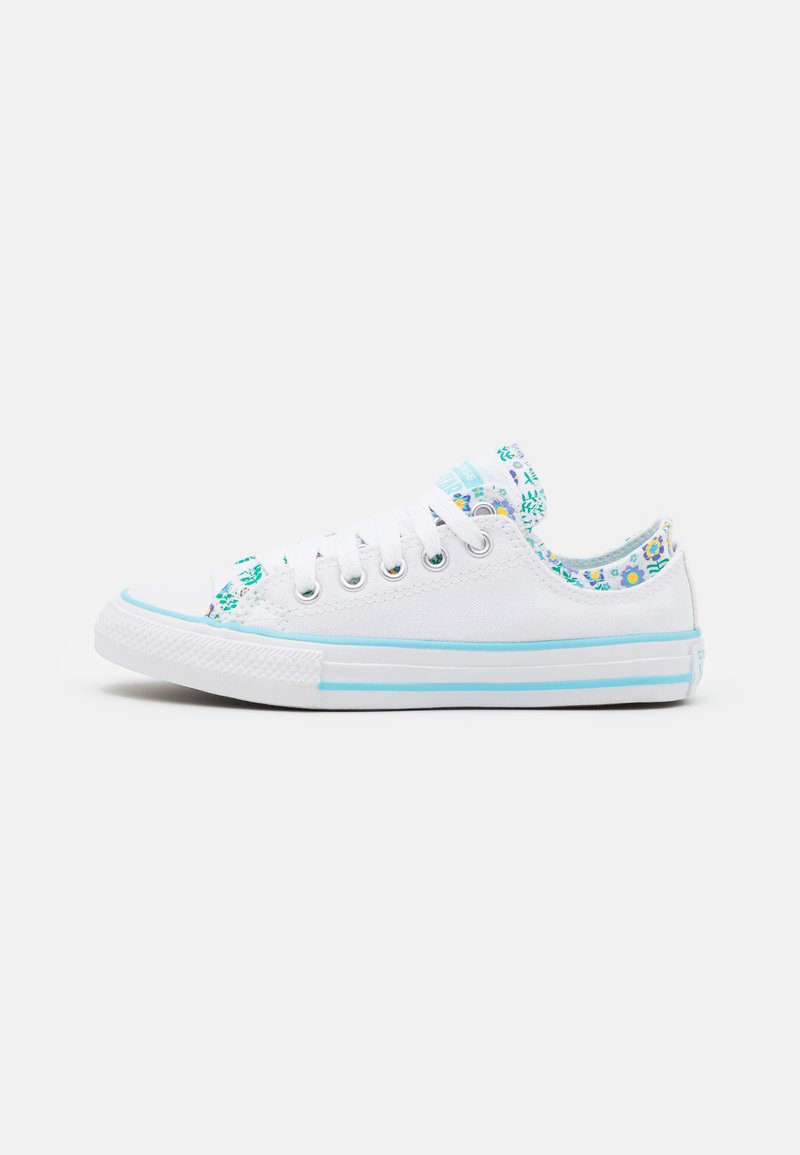 Converse - CHUCK TAYLOR ALL STAR DOUBLE UPPER FLORAL - Zapatillas - white/bleached cyan/court green