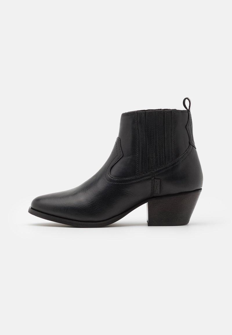 Levi's® - WESTERN FOLSOM - Cowboy/biker ankle boot - regular black
