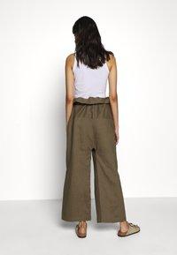 esmé studios - SUSAN FISHERMAN PANTS - Trousers - dusky green - 2