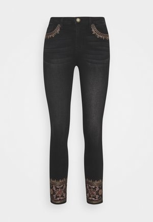 DENIM_FLOYER - Jeansy Slim Fit - black denim