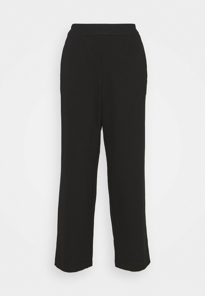 TOM TAILOR - CROPPED STRAIGHT LEG PANTS - Bukse - deep black