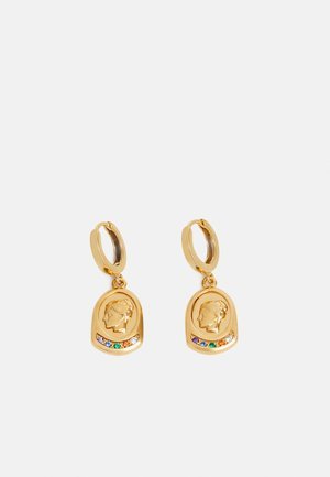 YGIEIA SLIP ON EARRINGS - Earrings - gold-coloured/multi