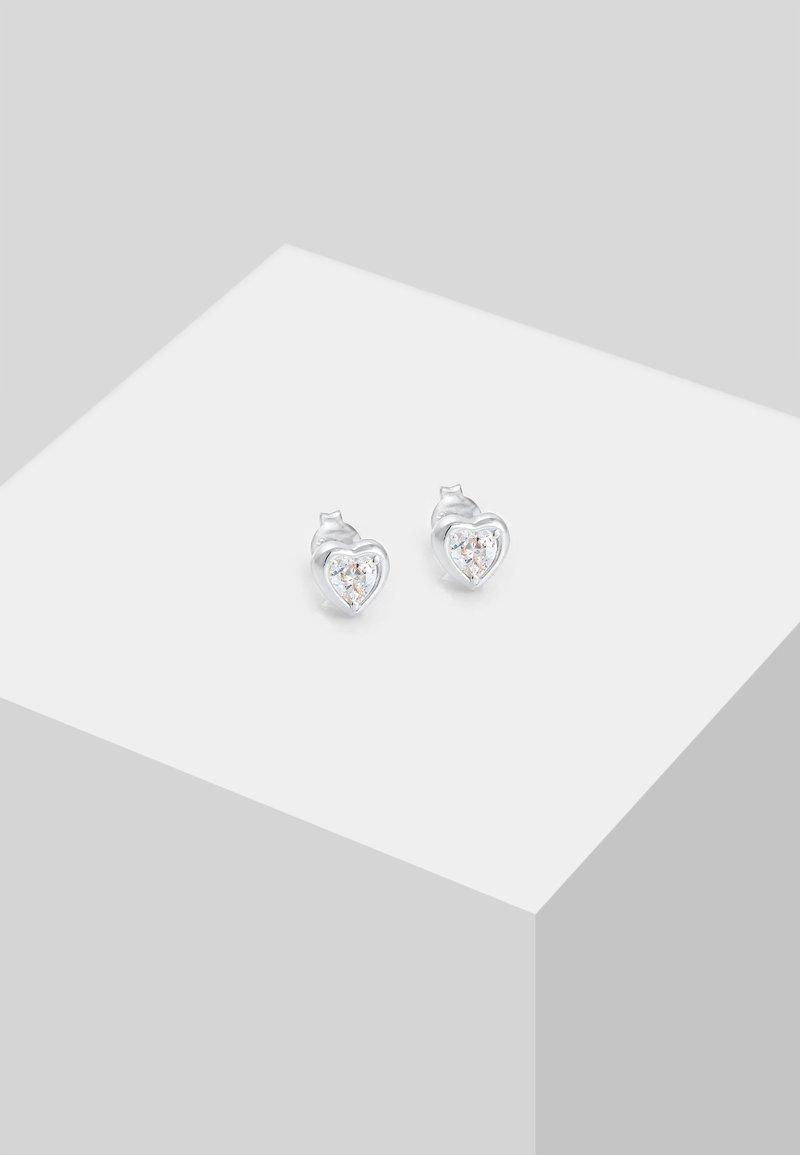 Elli - HERZ - Earrings - silber