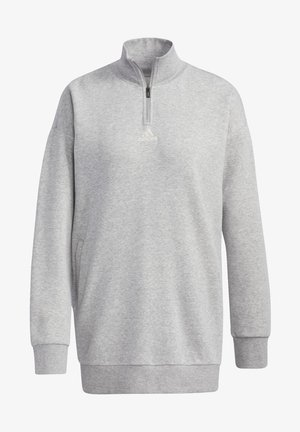 ESSENTIALS COMFORT ELONGATED 1/4 - Sweatshirt - grey