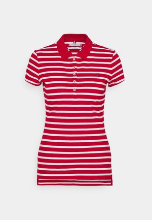 SHORT SLEEVE SLIM STRIPE - Polo shirt - primary red