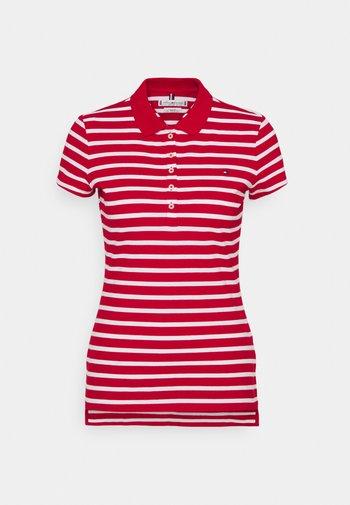 SHORT SLEEVE SLIM STRIPE - Polo shirt - primary red