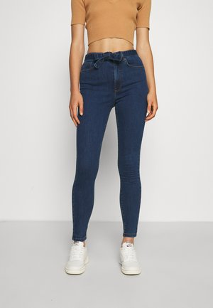 VMLOA BELT - Jeans Skinny Fit - dark blue denim