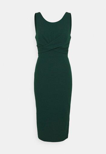 SAKINA WRAP MIDI DRESS - Jersey dress - forest green