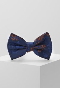 Burton Menswear London - CHINA BOW TIE AND MATCHING POCKET SQUARE SET - Pocket square - navy - 2