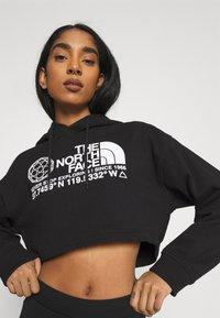 The North Face - COORDINATES CROP DROP HOODIE - Sweatshirt - black - 4