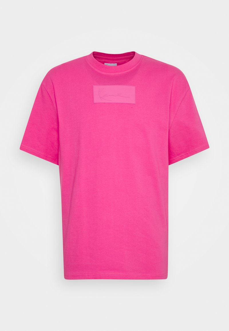 Karl Kani - SMALL SIGNATURE BOX TEE UNISEX - T-shirt imprimé - pink