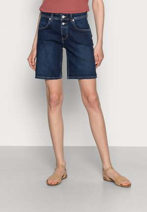 DENIM SHORTS RELAXED THEDA FIT REGULAR WAIST MID LENGTH - Jeansshort - dark commercial wash
