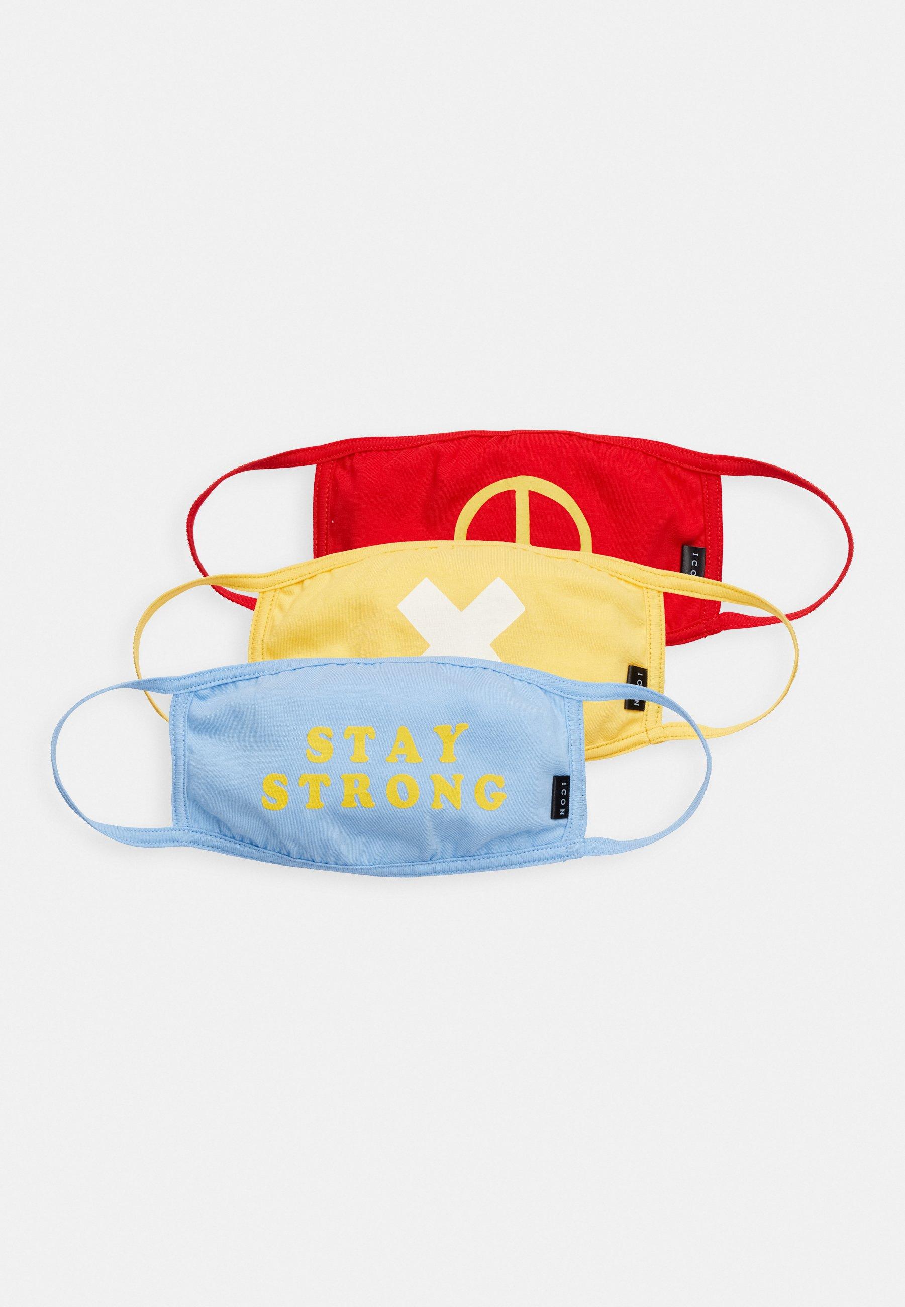 Icon Brand MULTI DESIGN COMMUNITY MASK 3 PACK - Munnbind i tøy - blue/red/yellow/blå g1uVtXxwJkmkxrn