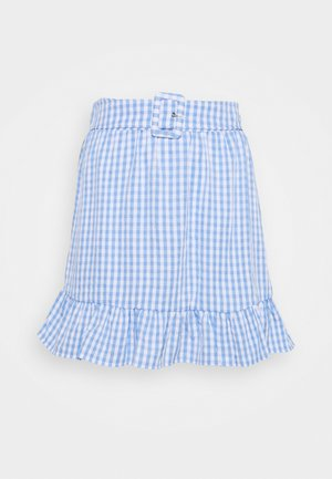 VIGRIMDA MINI BELT SKIRT - Mini skirt - cashmere blue/white