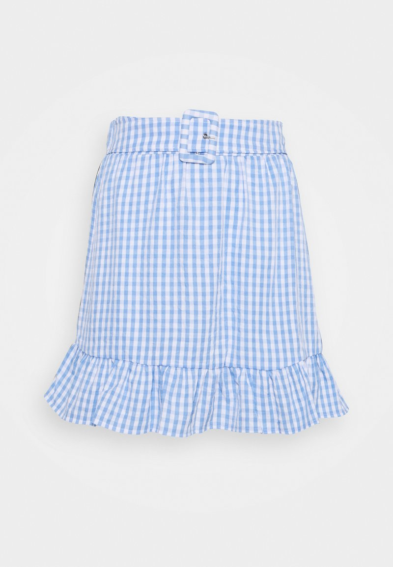 VILA PETITE - VIGRIMDA MINI BELT SKIRT - Mini skirt - cashmere blue/white