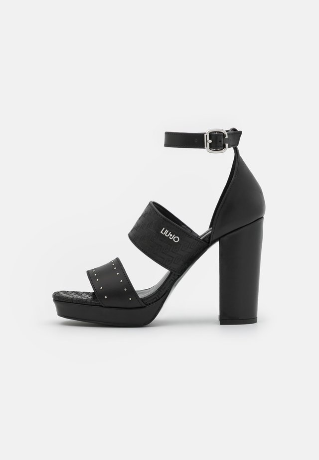 HEBE  - Sandalen met plateauzool - black