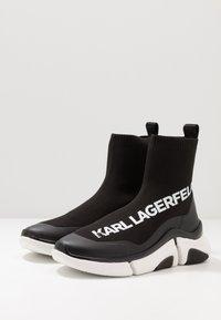 KARL LAGERFELD - VENTURE - Sneakersy wysokie - black/white - 2