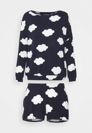 SET - Pyjama set - dark blue/white