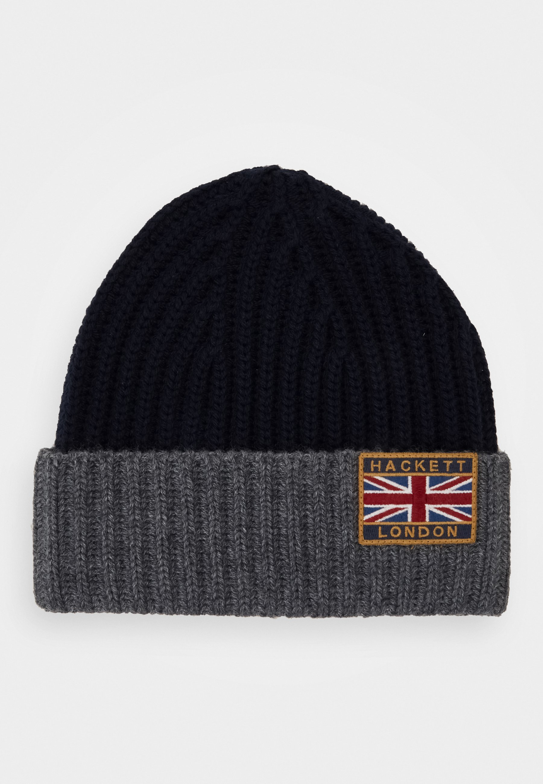 Hackett London Beanie - Mütze Navy/grey/dunkelblau