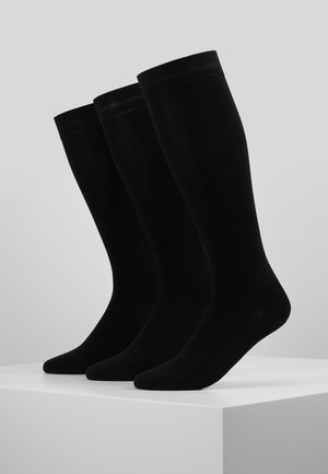 WOMEN SOFT KNEEHIGHS 3 PACK - Knæstrømper - black