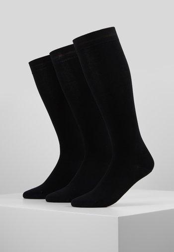 WOMEN SOFT KNEEHIGHS 3 PACK - Knee high socks - black