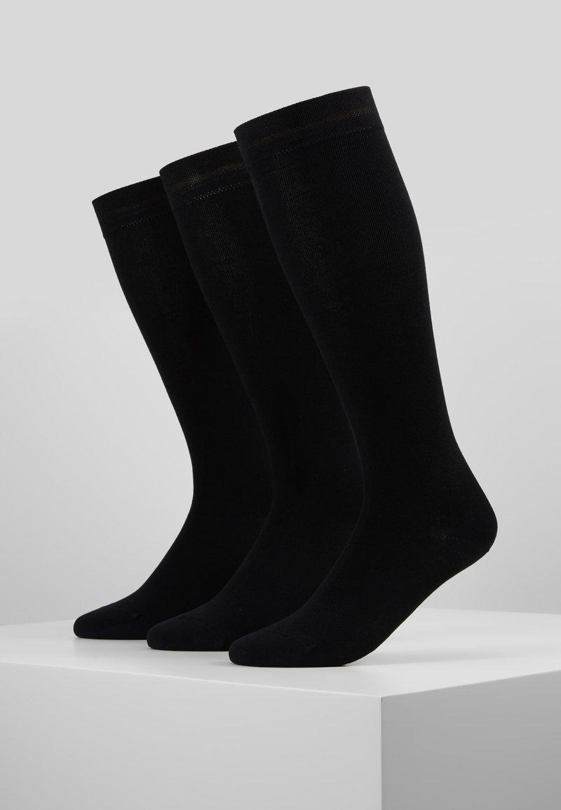 camano - WOMEN SOFT KNEEHIGHS 3 PACK - Knee high socks - black