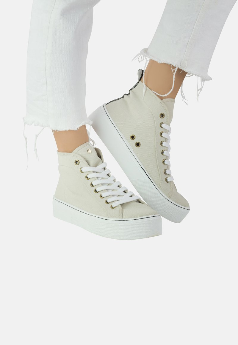 Priscila Welter - ANNIE - Sneakers hoog - sand