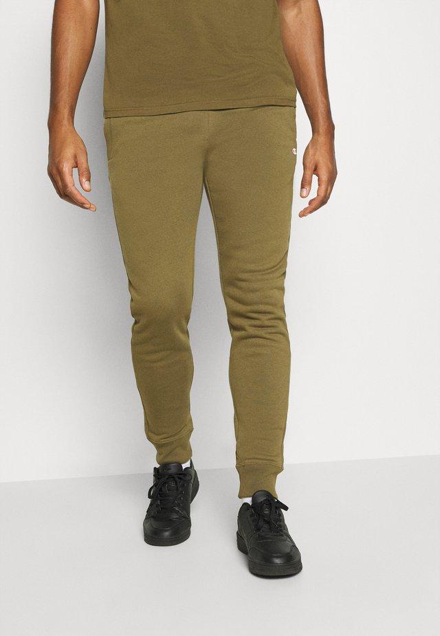 CUFF PANTS - Pantaloni sportivi - olive melange
