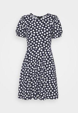 SPOT TSHIRT DRESS - Jerseykjole - navy