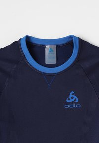 ODLO - CREW NECK PERFORMANCE WARM KIDS  - Camiseta interior - diving navy /energy blue - 4
