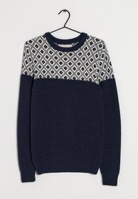 Next - Stickad tröja - blue - 0