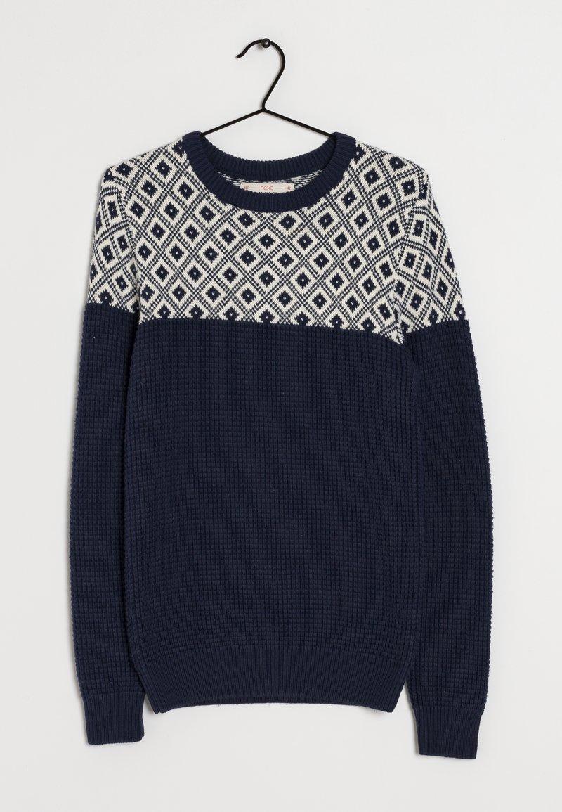 Next - Stickad tröja - blue