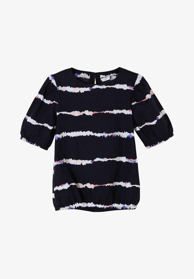 T-shirt print - navy stripes