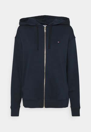OVERSIZED ZIP THROUGH HOODIE - veste en sweat zippée - desert sky