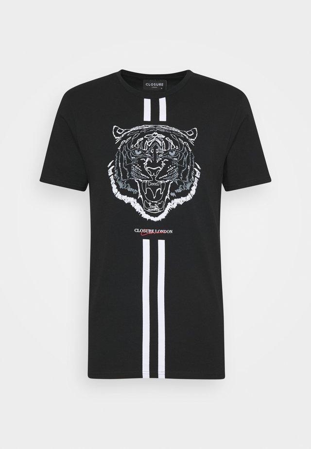 FURY TEE - T-shirt imprimé - black