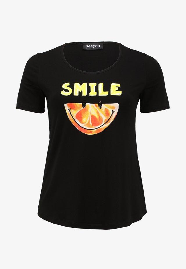 DRUCK - Print T-shirt - schwarz