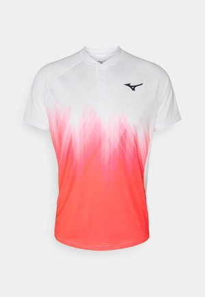 SHADOW - T-shirt con stampa - white/ignition red