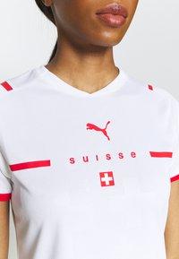 Puma - SCHWEIZ SFV AWAY REPLICA  - Club wear - white/red - 5