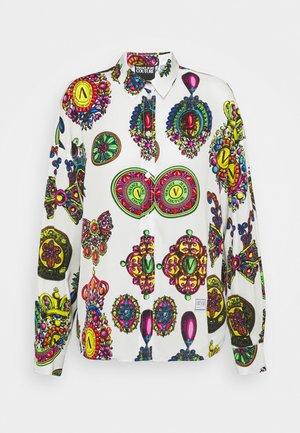 Button-down blouse - white/multi coloured