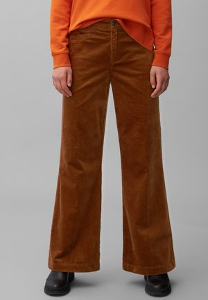 Trousers - chestnut brown
