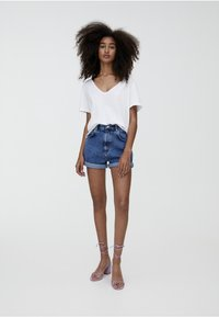 PULL&BEAR - T-shirt basic - white - 1