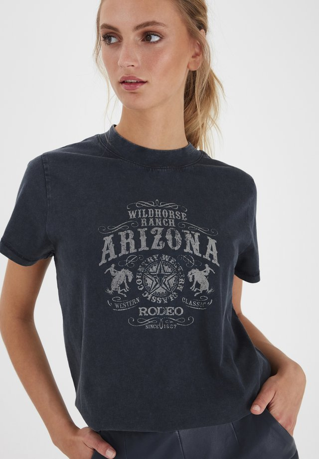 IHELINA  - Print T-shirt - dark navy